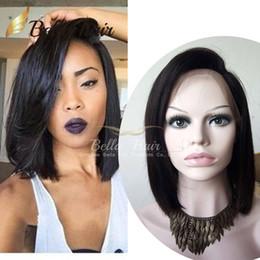 Wholesale Natural Hair Bobs - Glueless Wigs Bob Cut Wigs Human Hair Bob Full Lace Wig For Black Women Full Culticle Short Bob Lace Wigs Free Shipping Bella Hair