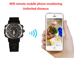 Wholesale Motion Detection Watch - 16GB memory WiFi watch Hidden HD Camera 720p iOS Android PC Mac Real Time Monitoring Motion Detection Remote Internet Recording PQ268B
