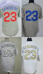Wholesale Womens Ripped Shirts - 30 Teams 2014 Chicago 23 Ryne Sandberg Mens Womens Kids All Stitched baseball jersey Best quality Cheap baseball shirts