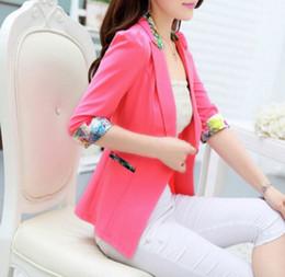 Wholesale Korean Style Ladies Blazer - Spring Korean Cultivating Temperament Thin Short Style Women Blazers Suits Fashion Ladies Work Office Blazer