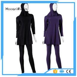 Wholesale Muslim Swimming - Muslim Swimwear Two Pieces Swimsuit Women Islamic Swimming Suits Islamic Swimsuit