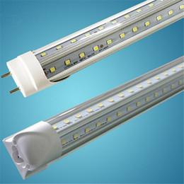 Wholesale 3ft T8 - V-Shaped 3ft 4ft 5ft 6ft 8ft Cooler Door Led Tubes T8 Integrated Led Tubes Double Sides SMD 2835 Led Fluorescent Light AC 85-265V CE SAA UL