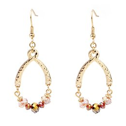 Wholesale Wholesale Indian Earings - Newest korea fashion big dangle earrings long earings for wedding with colorful chandelier gold crystals ear rings 2017