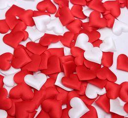 Wholesale Cheap Table Confetti - Cheap ! 500pcs Fabric Heart dia 3.5cm Wedding Party Confetti Table Decoration birthday party Decorative Supplies