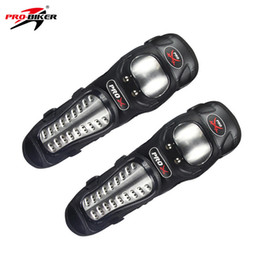 Wholesale metal gear free - PRO-BIKER Stainless Steel Protective Motorcycle Protective Gear Motorcycle Knee Pad Joint Lining Metal Buckle HX-P15B