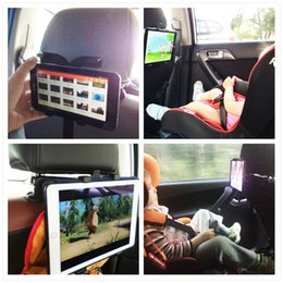 Wholesale Tablet Stands Holders - Car Back Seat Tablet Stand Headrest Mount Holder for iPad 2 3 4 Air 5 Air 6 ipad mini 1 2 3 Tablet SAMSUNG PC Stands Universal