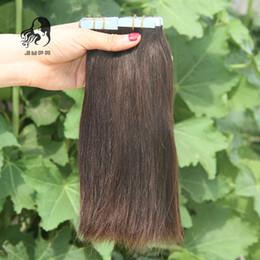 # 4 Koyu Kahverengi Hint Bant İnsan Saç Uzantıları 100 g / 40 adet Hint Düz Bakire PU Saç 7A Işlenmemiş Cilt Atkı Remy Saç uzatma nereden hint remy teyp saç uzantıları tedarikçiler