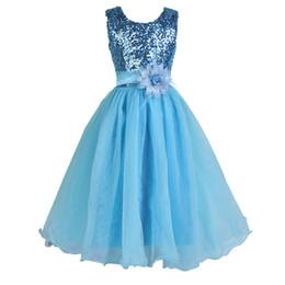 Wholesale Dress Blue Grace - flower girl dresses 2016 Grace Karin pageant ball gowns for girls Glitz blue red white party Festival princess communion dresses