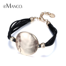 Wholesale Charm Bracelets Cameos - Wholesale-eManco Simple Multi-Layers Vintage Cameo Style Stylish Bracelets & Bangles for Women Rope Chain Alloy Jewelry & Accessories