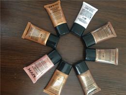 Wholesale Bb Liquid Cream - NYX Nude makeup concealer four-color BB cream skin care make-up moisturizing liquid Foundation free ship