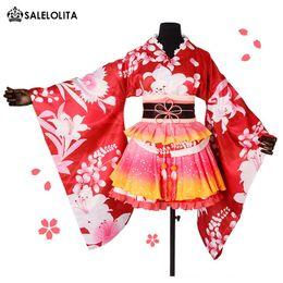 brandneue Love Live Maki Cosplay Kostüm Lovelive Kleid Erwachsene Printed Kimono für Frauen Halloween Karneval Party Kleider von Fabrikanten