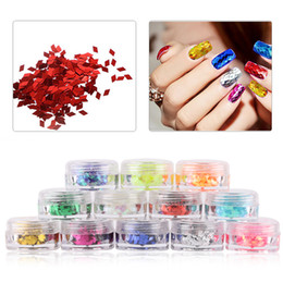 Wholesale Nail Art Paillette - 1 Box 2mm Rhombus Paillette Dazzling Mixed Diamond Sticker Tips Nail Sequins Sparkling Colorful Glitter Nail Art Decoration