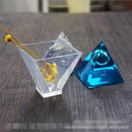 Piramit Silikon Kalıp DIY Reçine Dekoratif Craft Takı Yapımı Kalıp Ücretsiz Kargo nereden döşeme araçları tedarikçiler