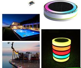 ampoule led ip68 Promotion Lumière flottante colorée de RVB LED avec les ampoules romantiques extérieures lumineuses solaires à télécommande de la piscine IP68