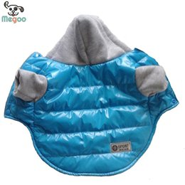 Wholesale Fall Colors Clothing - 5 Colors Winter Pet Dog Jacket Coat Thickening Warm Puppy Dog Clothes With Hood Size New