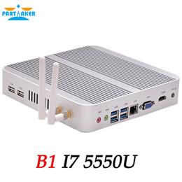 Wholesale Computer Intel Core - Partaker Intel Dual Core I7 5550U Mini PC Vesa Mount 4K Computer WIFI Free Shipping DHL