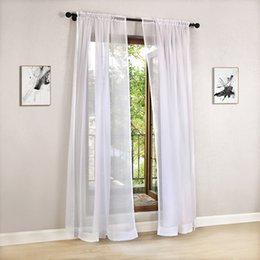 Wholesale Modern Curtains For Living Room - Solid color Tulle Modern Curtains for Living Room Transparent Tulle Curtains Window Sheer for the Bedroom Sheer Curtains