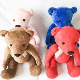 Wholesale Stuffed Animals Wedding Bears - 26cm Soft Teddy Bears Plush Toys Stuffed Animals Bear Dolls with Bowknot for Children Birthday Gifts Wedding Party Decor