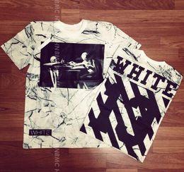 Wholesale Designer Shirts For Women - 2017 new style Kanye West designer virgil abloh off white t shirt skull marble 3d printed brand tshirt for men women casual tees