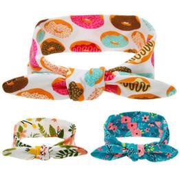 Nuevas Vendas del Bebé Bunny Rabbit Ear Head Bandas Niñas Niños Lindo Turbante Nudo Floral Impresión Hairbands Headwear Accesorios Para el Cabello KHA175 desde fabricantes