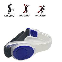 Wholesale Led Arm Light Band - LED Light Bright Armband LED Bracelet Glowing Slap Band For Arm Wrist Ankle Silicone Reflective Running Gear 10pcs