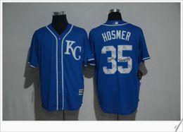 Wholesale Cheap Baseball Style Jerseys - Kansas City Royals #35 Eric Hosmer New Print Style Embroidery Cheap Baseball Shirts Stitched Sports Team Mens Jerseys Free Shipping For Sale