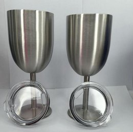 Wholesale Folk Art Ship - 2017 10oz New Style WINE GLASS Cup Stainless Steel Tumbler True North Free shipping DHL