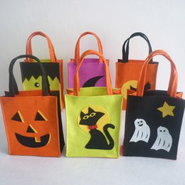 Wholesale Halloween Party Treats - 6pcs lot Halloween Tote Bag Childrens Kids Festival Gifts Bag Halloween Bag Gift Party Loot Trick Treats Sweets Candy PDK0013