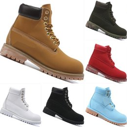 Wholesale Nubuck Leather Boots Wedges - Top Band 10061 Wheat Yellow Waterproof Cowhide Business Boots Top Band 10061 Yellow Hiking Parent-Child Boots