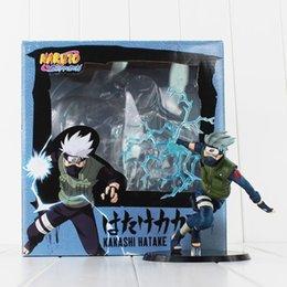 Wholesale Toys Naruto Blade - Naruto Kakashi Hatake Lightning Blade Boxed PVC Action Figure Model Toy free shipping