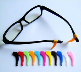 Wholesale Wholesale Eyeglass Holders Hook - Wholesale 200pcs Eyeglass Ear hook Eyewear Glasses Silicone Temple Tip Holder High quality eyeglass eyewear glasses Anti Slip silicone ear