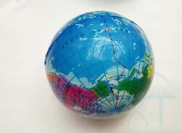 Wholesale Atlas Map - 2017 hot sale 6.3cm Stress Relief World Map Foam Ball Atlas Globe Palm Ball Planet Earth Ball