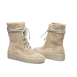 Wholesale Women Wearing Boots - Winter Women Martin Boots Lace Up Half Booties Knight Boots Round Toe Fashion Motorcycle Boots Outdoor Snow Boot Work Wear Office Shoes