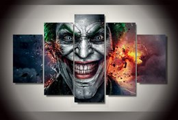Wholesale Child Cartoon Picture Frame Paintings - Wholesale New Famous cartoon Batman Joker canvas pictures for child as a Christmas present high quality painting no frame