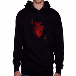 Толстовка в покере онлайн-Wholesale- Poker Heart New  Men's Hoodies Cotton Sweatshirt Black/Gray 4XL Hoodie  Clothing Sudaderas Hombre Hip Hop Tracksuit