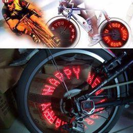 Wholesale Cool Bike Lights - Wholesale- 2017 New Hot Cool 7 LED Bicycle Bike Lamp Wheel Tire Spoke Valve Flash Letter Light Hot Search