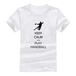 Wholesale Shirt New Unique - Play handballl 2017 New Clothes Fashion Man Casual T-Shirt Cotton O Neck Short Sleeve Loose Personalized unique Male Tops Tees Wholesale