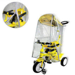 Wholesale Rain Cover Baby - Wholesale- High Quality Baby Stroller Cover Universal Waterproof Rain Cover Dust WindShield Stroller Accessories F3