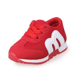 Wholesale Wholesale Shoe Stretch - Spring and autumn children mesh m alphabet children's shoes, boys and girls exercise leisure soft children's shoes