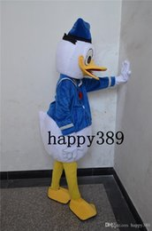 Wholesale Costume Halloween Mascotte - Halloween Hot Edition Donald Duck Mascot Costume Couple Mascotte Suit Adult Size Fancy Dress Party Cheap Price Factory Direct Free Shipping