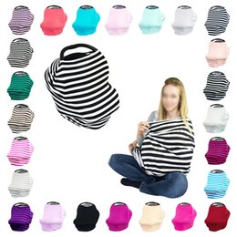 Wholesale Breast Shower - Wholesale- 5 In1 Multi-Use Baby Car Seat Cover Canopy Nursing Breast-feeding Cover Infinity Nursing Scarf Stretchy Baby Shower Gift