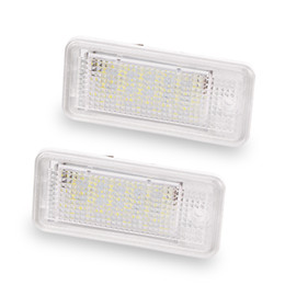 Wholesale Audi A4 Rs4 - 2pcs For Audi License Plate Light 12V White 6000K Led License Plate Lamp For Audi A3 S3 A4 S4 B6 B7 A6 C6 S6 A8 S8 RS4 RS6 Q7