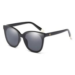 Wholesale Round Sunglasses Trend - Vintage Cat Eye Womens Sunglasses Brand Designer Frame Ladies glasses Points Sun Glasses Girl Newest Style Fashion trend Women Sunglasses
