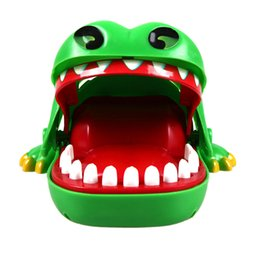 Wholesale Toy Crocodiles - 1Pc New Baby Toys Baby Kids Large Crocodile Mouth Dentist Bite Finger Game Funny Toy Children Gifts Brand