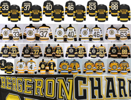 Wholesale White Cotton Xl - Boston Bruins Hockey 4 Bobby Orr 33 Zdeno Chara 37 Patrice Bergeron 40 Tuukka Rask 46 David Krejci 63 Brad Marchand 88 David Pastrnak Jersey