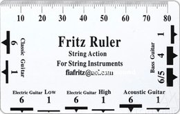 Sillín de guitarra online-NUEVO Fritz String Action Pitch Ruler 4 Guitarra Bass String Instrument Nut Saddle