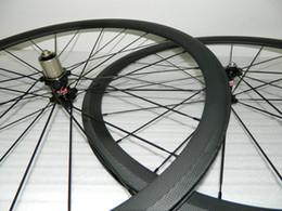 Wholesale Novatec Road Bicycle Hubs - 38mm 50mm Clincher Tubular 23mm wideth Road Bike Carbon Wheels Bicycle Rims Novatec A271 Hub Carbon Road Bicycle wheelset