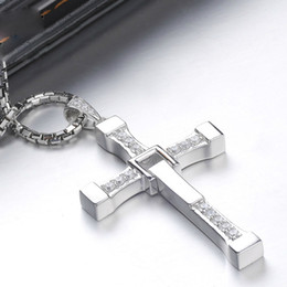 Wholesale Dominic Toretto Chain - Wholesale- Fast and Furious Necklace Men's Cross Necklace Men Praying Holy Article Dominic Toretto Jesus Necklace