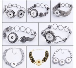 Wholesale Wholesale Jewelry Chin - Noosa Crystal Chunk Snap Button Bracelet Ginger Snaps Women Jewelry Hand Chin For 18MM Buttons lobster clasp