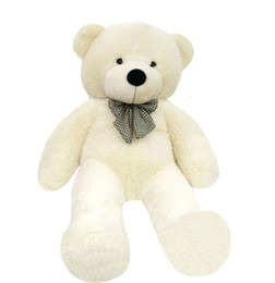Wholesale Big Huge Cute - Hot GIANT 80CM BIG CUTE Beige PLUSH TEDDY BEAR HUGE WHITE SOFT 100% COTTON TOY